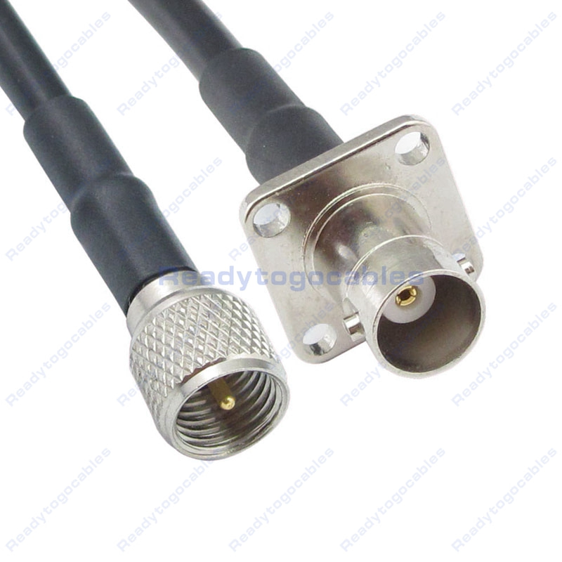 USA-CA RG174 MINI UHF MALE to MINI UHF FEMALE Coaxial RF Pigtail Cable