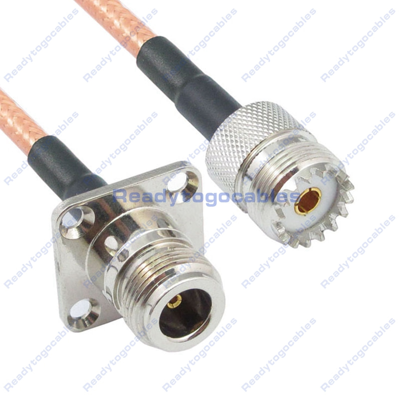 USA-CA LMR100 SO239 UHF FEMALE to RP-SMA FEMALE Coaxial RF Pigtail Cable