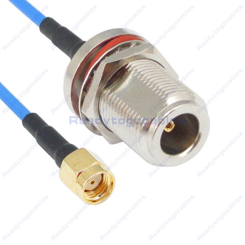 USA-CA RG174 SMA MALE to N FEMALE BULKHEAD Coaxial RF Pigtail Cable