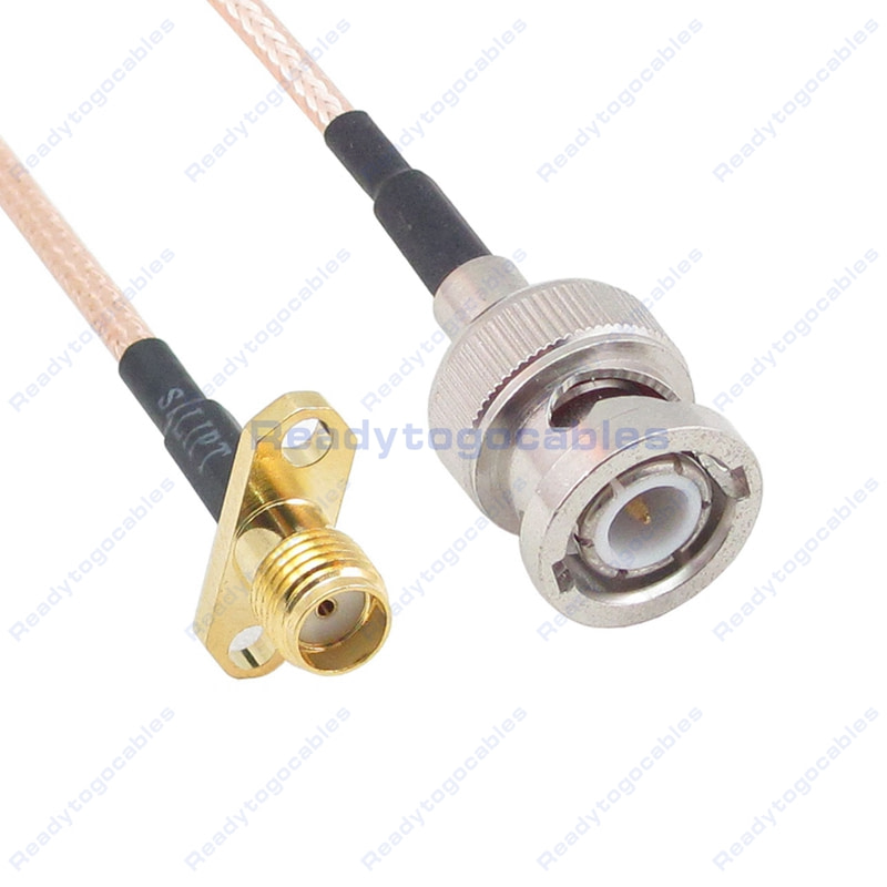 USA-CA RG316 DS RCA MALE to SMB MALE Coaxial RF Pigtail Cable