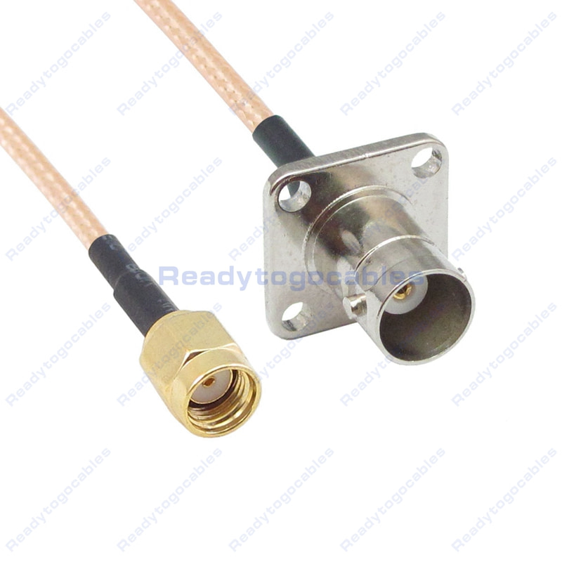 USA-CA RG316 DS MCX MALE to BNC FEMALE Coaxial RF Pigtail Cable